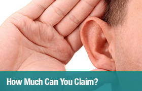 How much can you claim for deafness?
